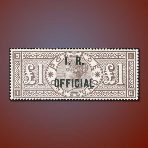 1-Pound-Brown-lilac-watermark-orbs-stamp
