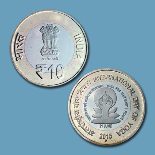 10-Rupee-Commemorative-Yoga-Issue