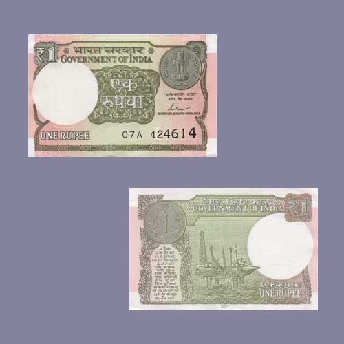 Image result for one rupees note india