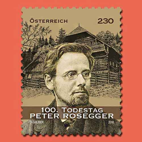 100th-death-anniversary-of-Peter-Rosegger-marked-on-the-stamp