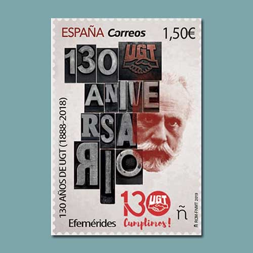 130-years-of-the-UGT-celebrated-by-Spain-Post-
