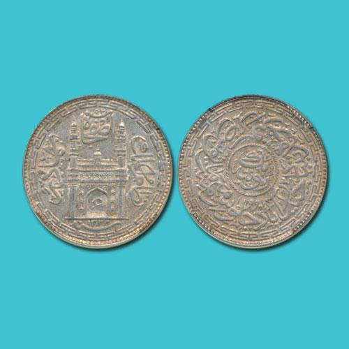 Silver-Rupee-of-Hyderabad-Nawan-Mir-Usman-Ali-Khan-