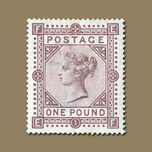 1882-Brown-lilac-One-pound-stamp