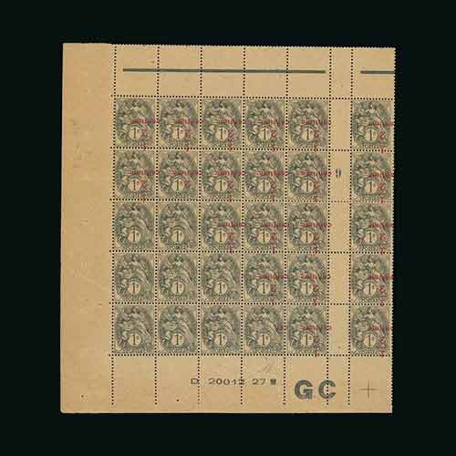 1919-22-Blanc-Surcharged-Inverted-block-offered-for-22,-6860-dollars