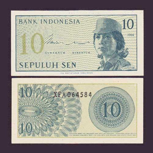 1964-Indonesian-10-Sen