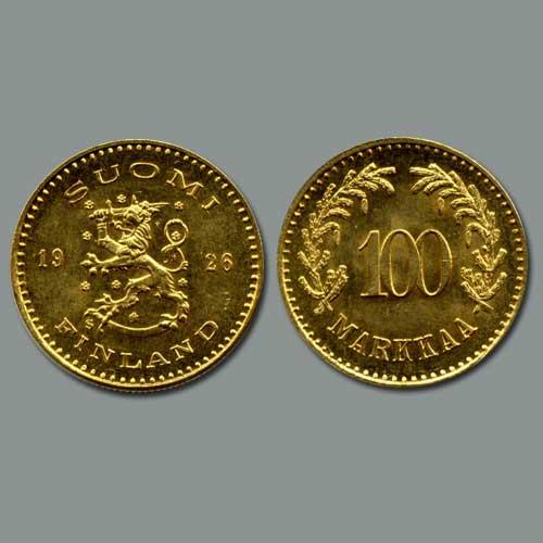 100-Markkaa-of-Finland-Issued-in-1926