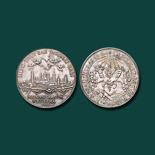 Treaty-of-Westphalia---1648-Silver-Medal-to-be-Auctioned