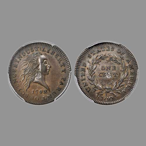 Finest-1792-Silver-Center-cent-Pattern-Coin-Sold-for-$900,000