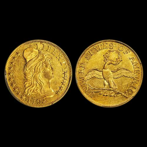 Alexander-Collection-amuses-with-1795-Capped-Bust,-Small-Eagle-Gold-Half-Eagle