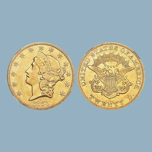 Rare-1854-O-Coronet-$20-Double-Eagle-to-be-Auctioned