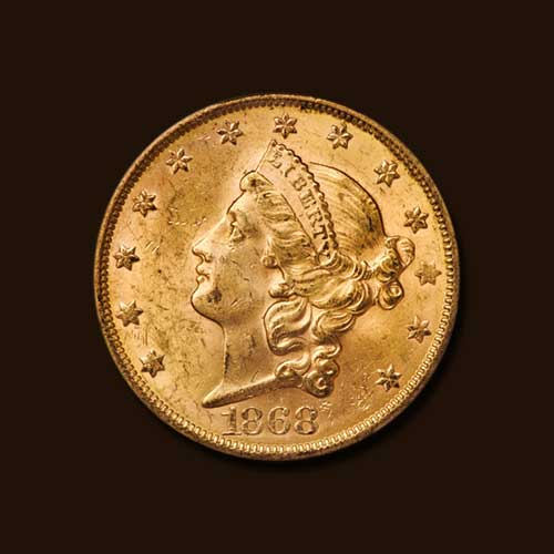 Rare-MS62+-1868-S-Double-Eagle-to-be-Auctioned