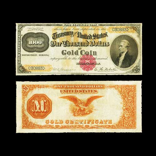 Rare-$1,000-Gold-Certificate-Auctioned-for-$600,000