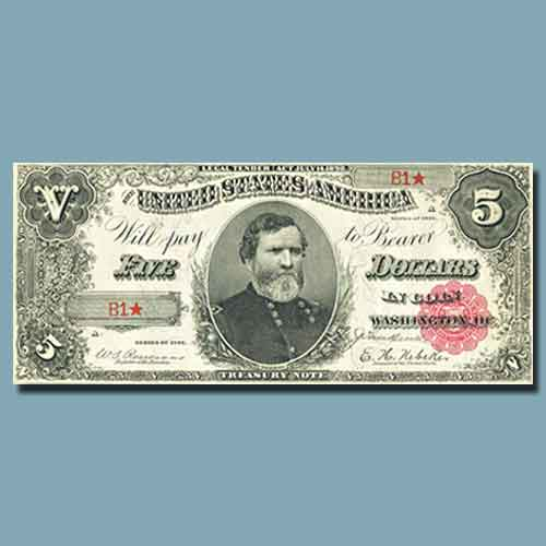 Series-1891-$5-Treasury-Note-with-Courtesy-Autograph-to-be-Auctioned