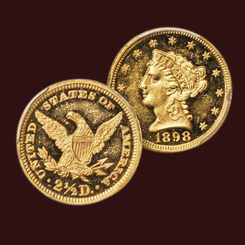 1898-Coronet-Gold-$2.50-Quarter-Eagle-Sold-for-$2,880
