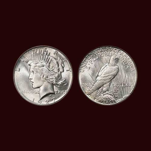 1927-D-Peace-dollar-graded-MS-66+-Sold-For-$176,250