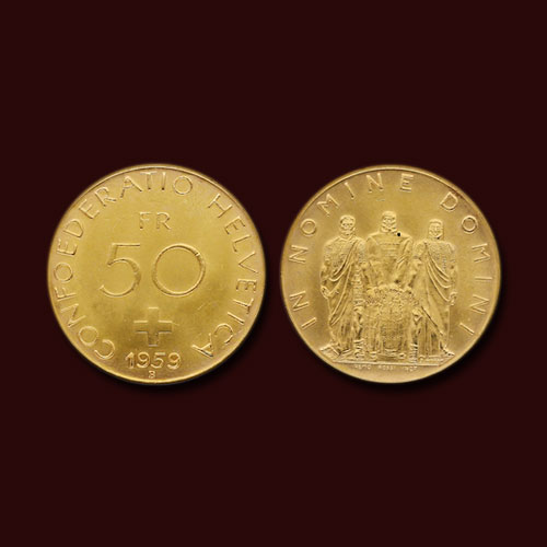 Rare-Swiss-Gold-Coins-Issued-in-1959-Sold-for-a-Handsome-Amount