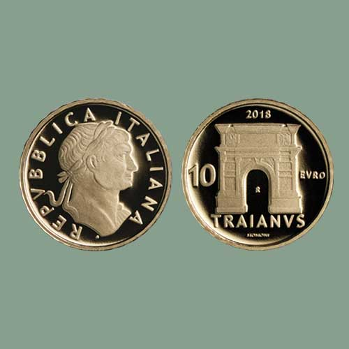 Great-Roman-Emperor-Trajan-Featured-on-Latest-Italian-Coin