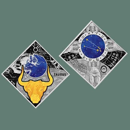 Taurus-Zodiac-Sign-Silver-Coin-by-Macedonia
