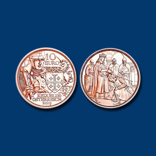 Godfrey-of-Bouillon-Honoured-on-New-Austrian-Coin