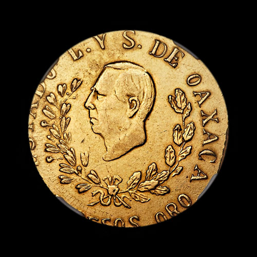 Unique-1916-Oaxaca-Gold-60-Pesos-to-be-Auctioned