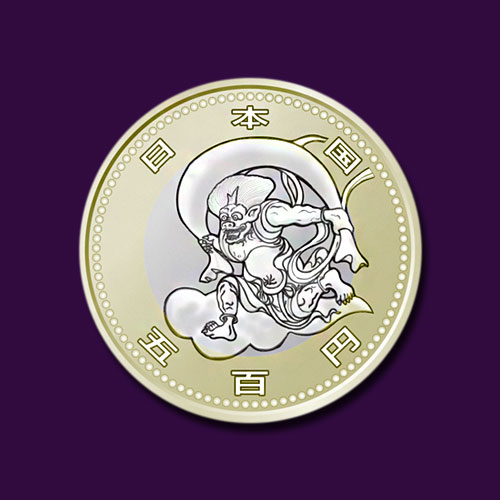 Historical-Wind-God-and-Thunder-God-Painting-Designs-Featured-on-Japan's-2020-Olympics-Commemorative-Coins