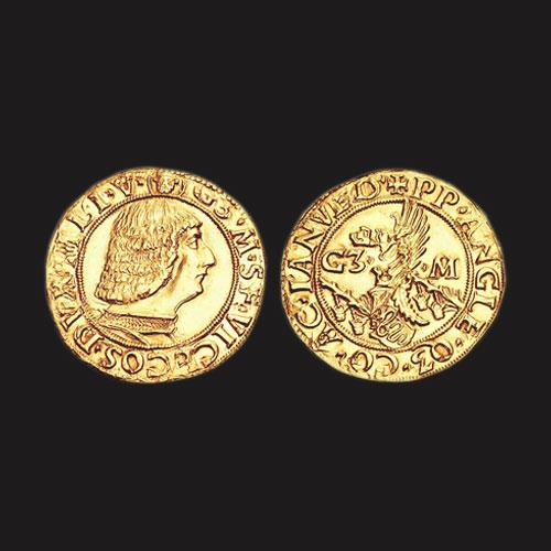 Beautiful-Gold-Ducat-of-Galeazzo-Maria-Sforza