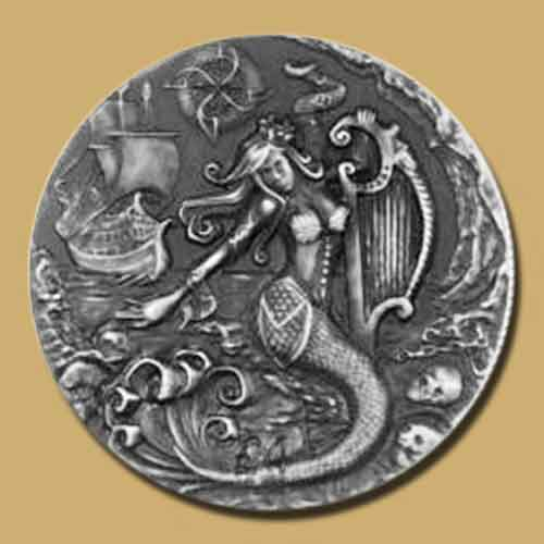 Beautiful-yet-Dangerous-Mythical-Creature-Siren-on-Coin
