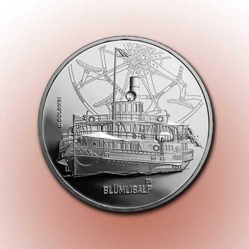 """Steamship-""""Blumlisalp""""-on-Latest-Swiss-Coin"""