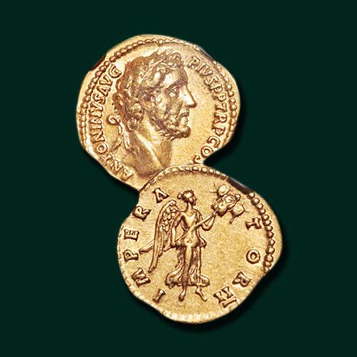 Ancient-Gold-Aureus-of-Antoninus-Pius-Being-Auctioned