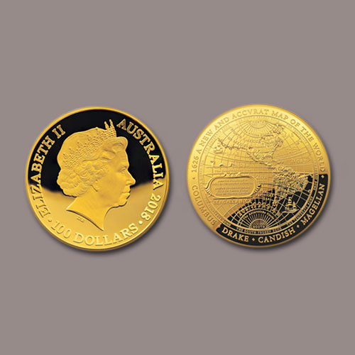 Australia's-Dome-Shaped-Gold-Coin-Features-a-1626-Map