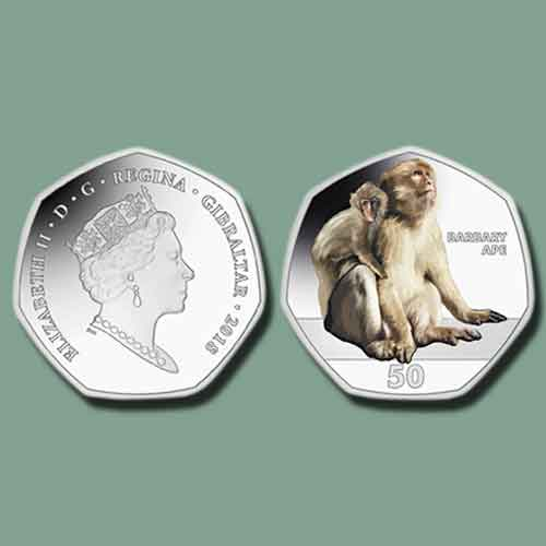 Barbary-Ape-Depicted-on-Latest-Coin-from-Gibraltar