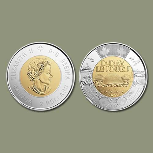 Canada's-D-Day-$2-Coins-Enter-Circulation