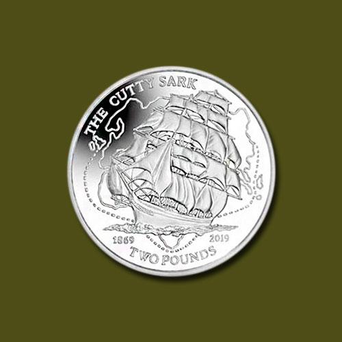 Coin-Commemorates-150th-Anniversary-of-Cutty-Sark-Clipper-Ship