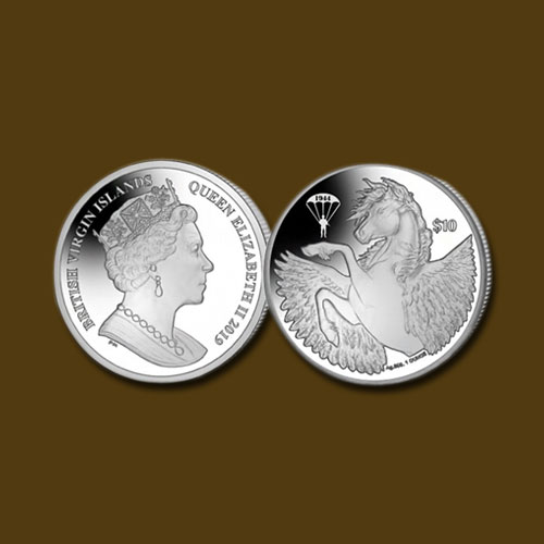 Pobjoy-Mint-Issues-Silver-Bullion-Pegasus-Coin-With-Special-D-Day-Privy-Mark