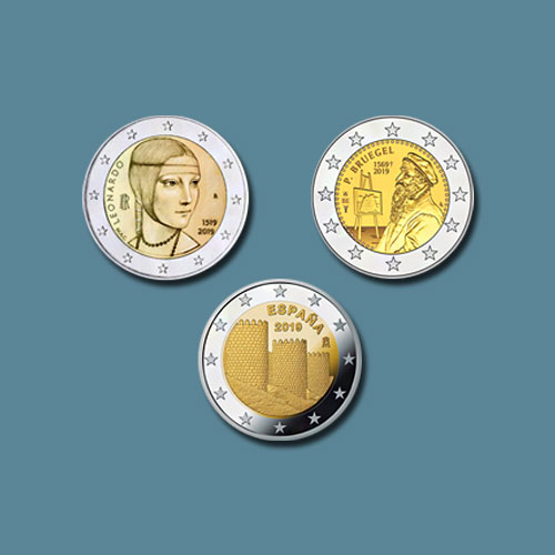Latest-Commemorative-Coins-of-Belgium,-Italy-and-Spain