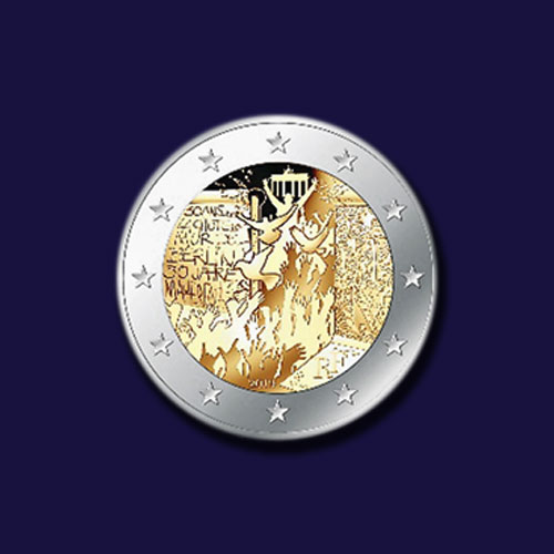Fall-of-Berlin-Wall-Remembered-on-Latest-French-Coins