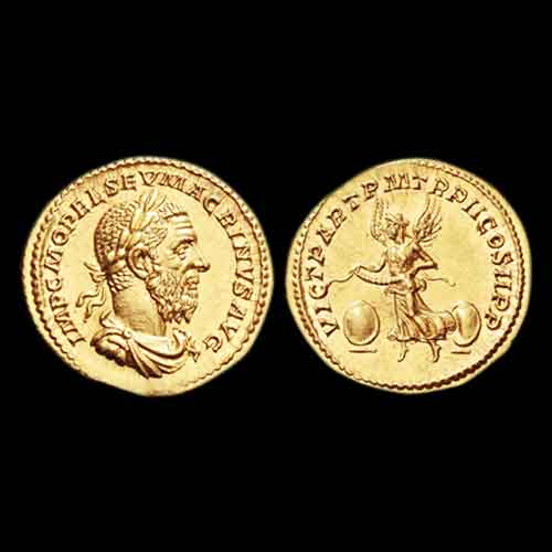 Gold-Aurius-of-Roman-Emperor-Macrinus-to-be-Auctioned