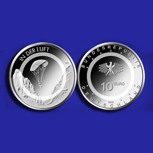 Paraglider-Featured-on-New-10-Euro-Polymer-Ring-German-Coin