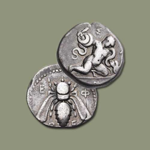 Ancient-Ephesus-Coin-Features-Baby-Hercules-Strangling-Snakes