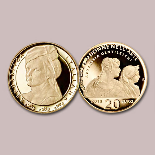 Famous-17th-Century-Painter-Artemisia-Gentileschi-Remembered-on-Italian-Coins