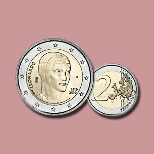 Italian-Coin-Marks-Leonardo-da-Vinci's-500th-Death-Anniversary