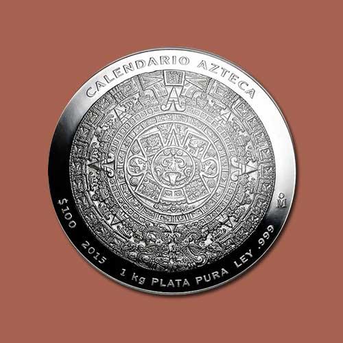 Aztec-Calendar-1-Kilo-Silver-Coin-of-Mexico