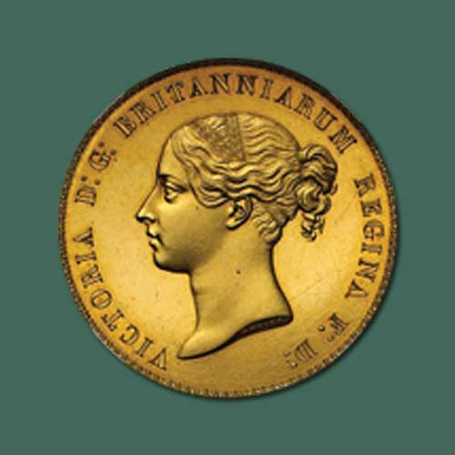 """1839-Victoria-Gold-""""Una-and-the-Lion""""-Five-Pounds-Coin-to-be-Auctioned"""