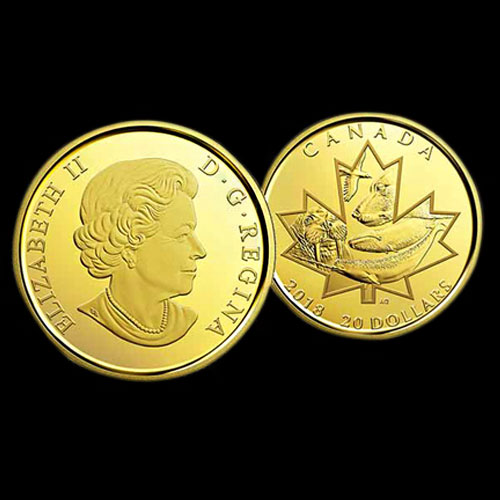 First-Canadian-Coin-Made-From-Pure-Nunavut-Gold