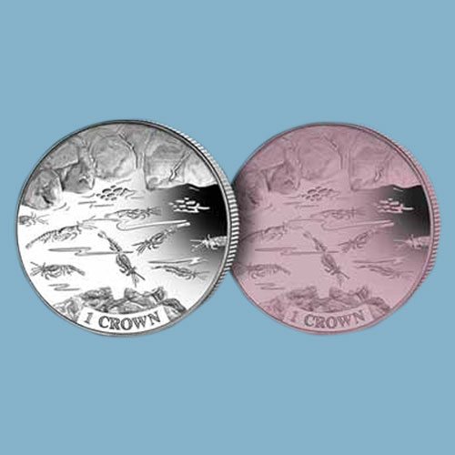 Special-Shrimps-on-Ascension-Island's-First-Titanium-Coins