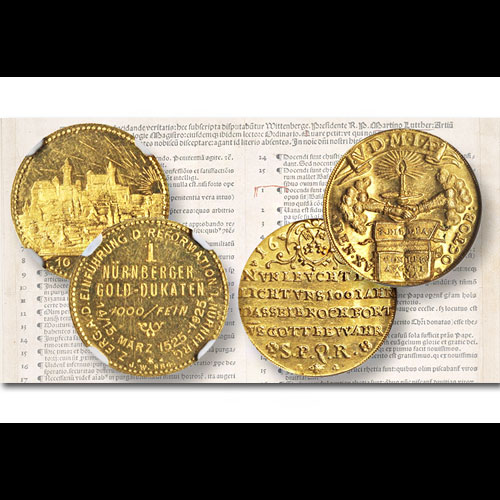 Gold-Coin-and-Medal-Honouring-Anniversary-of-Protestant-Reformation