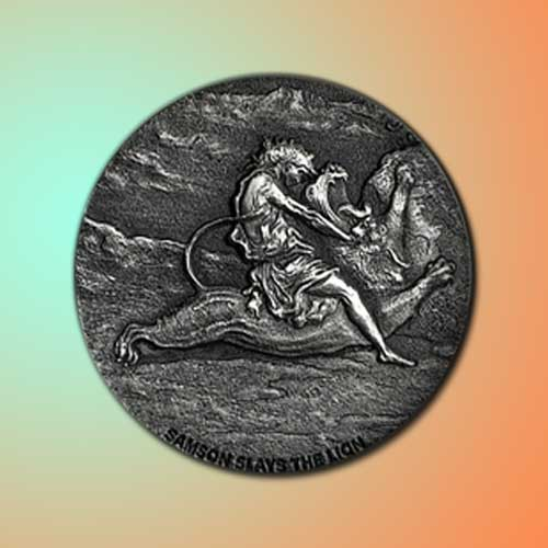 New-Coin-Depicts-Samson-Slaying-the-Lion