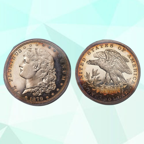 Heritage-FUN-US-Auction-Showcases-1879-Schoolgirl-Dollar-in-Silver