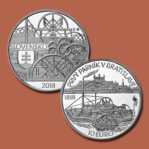Slovakian-Coins-Celebrate-200th-Anniversary-of-a-Steamship