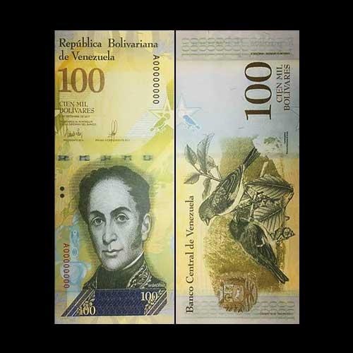Venezuela-Releases-New-100,000-bolivar-Note